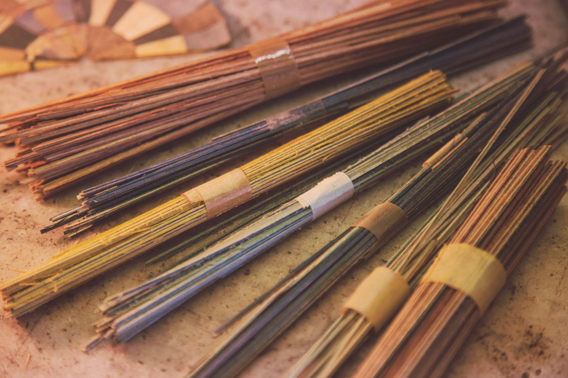Wood sticks for handmade inlaid woodworks