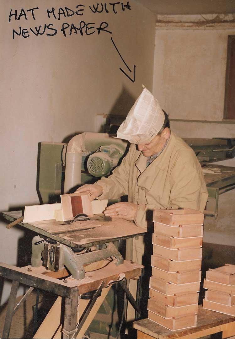 Our dad Aniello Stinga in the workshop, 1990, Sorrento