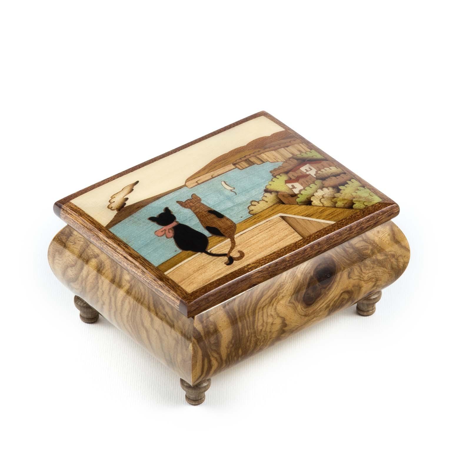 Tricket Inlaid Wood Music Box Stinga Tarsia